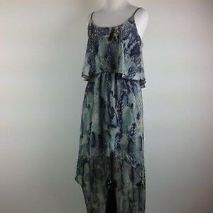 100% Silk Gorgeous and Flowing High Low Dress